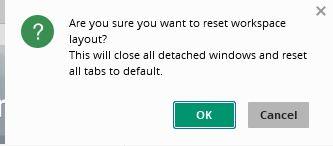 Предупреждение при смене workspace