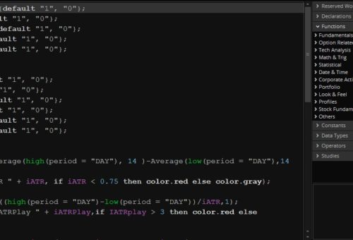 Коды для: сканеров, фильтров, индикаторов в ThinkOrSwim (TOS)