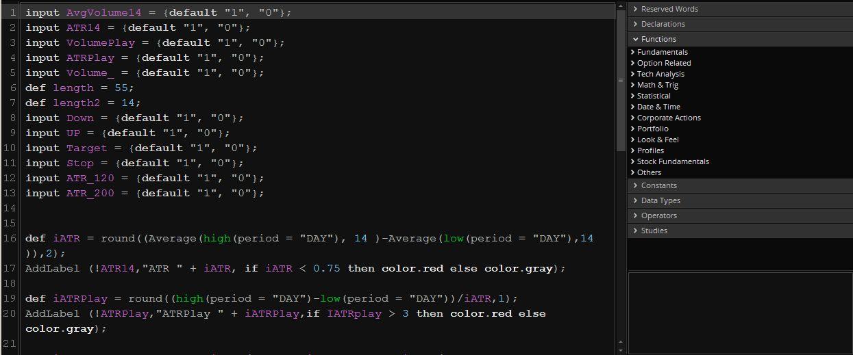 Коды фильтров и сканеров для TOS